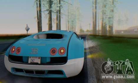 Bugatti Veyron Super Sport 2011 for GTA San Andreas upper view