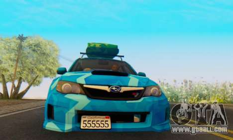 Subaru Impreza Blue Star for GTA San Andreas left view