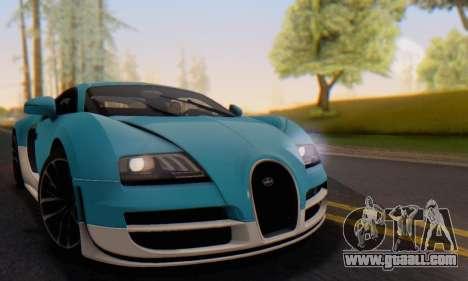 Bugatti Veyron Super Sport 2011 for GTA San Andreas interior