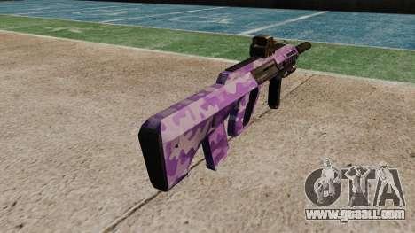 Автомат Steyr AUG-A3 Optic Purple Camo for GTA 4 second screenshot