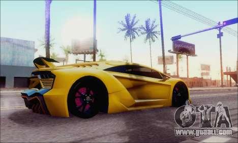 Zentorno GTA 5 V.1 for GTA San Andreas left view