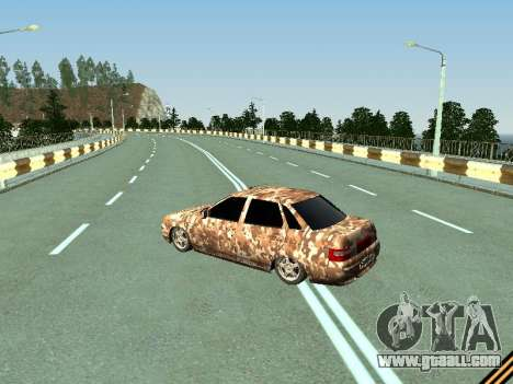VAZ 2110 camouflage for GTA San Andreas back left view