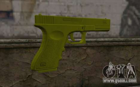 Golden Glock 18C for GTA San Andreas second screenshot