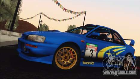 Subaru Impreza 22B STi 1998 for GTA San Andreas upper view