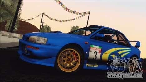 Subaru Impreza 22B STi 1998 for GTA San Andreas upper view