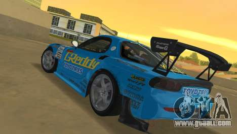 Mazda RX7 FD3S RE Amamiya G-Reddy for GTA Vice City back left view