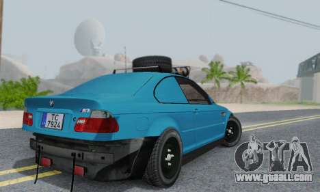BMW M3 E46 Offroad Version for GTA San Andreas back view