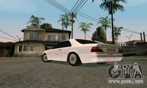 Mercedes-Benz W124 Coupe for GTA San Andreas back left view