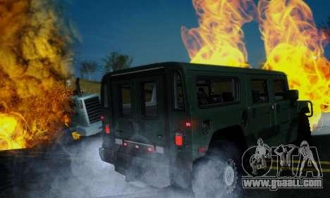 Hummer H1 Alpha for GTA San Andreas back view