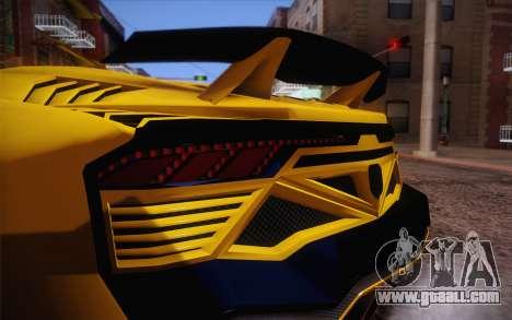Zentorno из GTA 5 for GTA San Andreas side view
