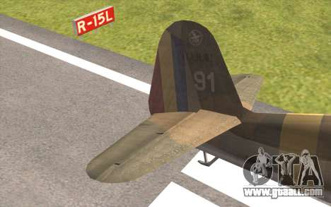IAR 80 - Romania No 91 for GTA San Andreas back left view