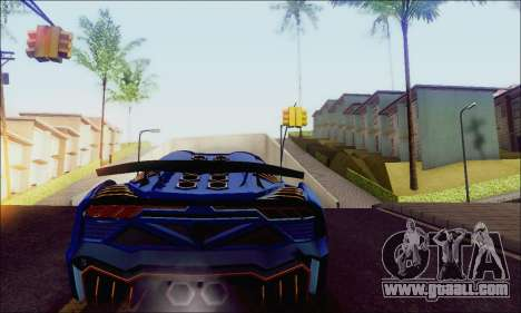 Zentorno GTA 5 V.1 for GTA San Andreas back left view