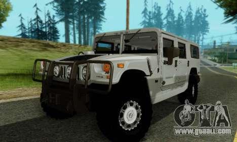 Hummer H1 Alpha for GTA San Andreas upper view