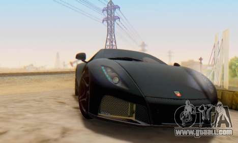 GTA Spano 2014 IVF for GTA San Andreas back left view