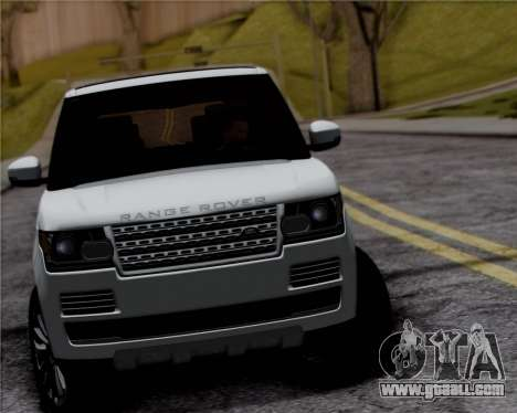 Range Rover Vogue 2014 for GTA San Andreas back view