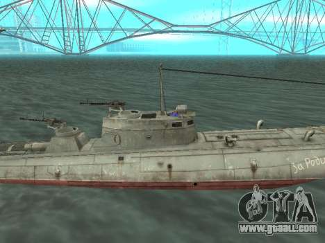 Torpedo boat type G-5 for GTA San Andreas back left view