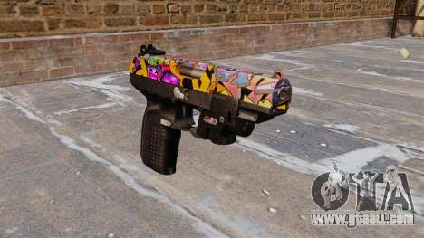 Gun FN Five seveN LAM Graffitti for GTA 4