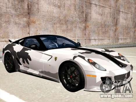 Ferrari 599 GTO for GTA San Andreas upper view