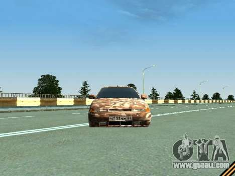 VAZ 2110 camouflage for GTA San Andreas back view