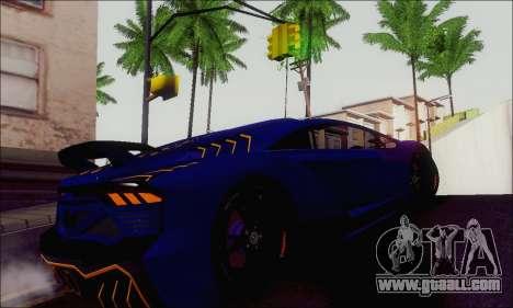 Zentorno GTA 5 V.1 for GTA San Andreas back view