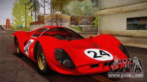 Ferrari 330 P4 1967 IVF for GTA San Andreas wheels