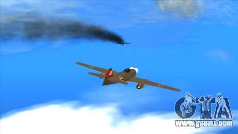 Messerschmitt Me.262 Schwalbe for GTA San Andreas side view