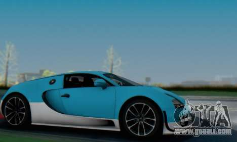 Bugatti Veyron Super Sport 2011 for GTA San Andreas bottom view