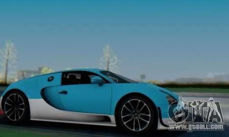 Bugatti Veyron Super Sport 2011 for GTA San Andreas bottom view