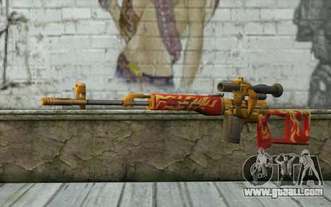 The Dragunov Sniper's Rifle (Point Blank) for GTA San Andreas