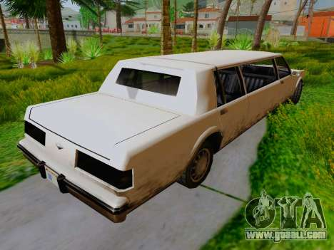 Greenwood Limousine for GTA San Andreas back left view