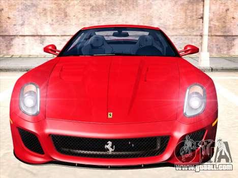 Ferrari 599 GTO for GTA San Andreas left view