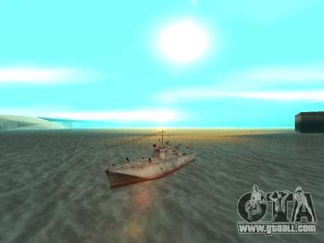Torpedo boat type G-5 for GTA San Andreas right view