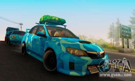 Subaru Impreza Blue Star for GTA San Andreas