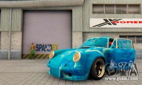 Porsche 911 Blue Star for GTA San Andreas inner view