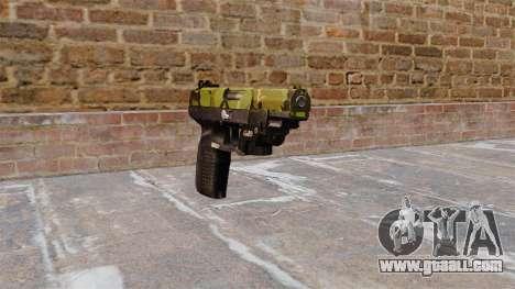 Gun FN Five seveN LAM Woodland for GTA 4