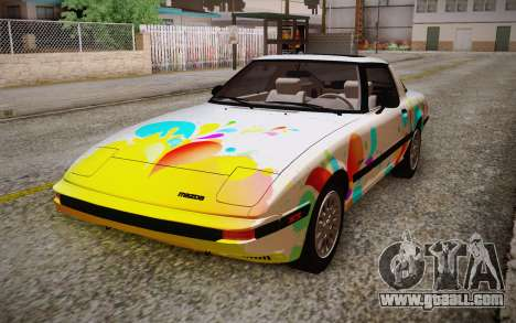 Mazda RX-7 GSL-SE 1985 HQLM for GTA San Andreas back view