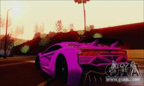 Zentorno GTA 5 V.1 for GTA San Andreas engine