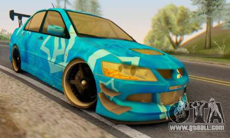 Mitsubishi Lancer Evolution IIIX Blue Star for GTA San Andreas