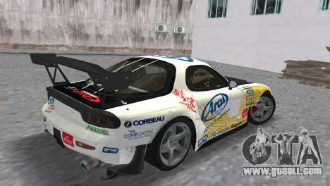 Mazda RX7 FD3S RE Amamiya Arial for GTA Vice City left view