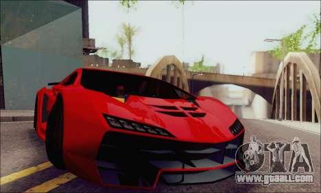 Zentorno GTA 5 V.1 for GTA San Andreas side view