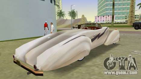 Cadillac Series 37-90 1937 V16 Cabriolet for GTA Vice City left view