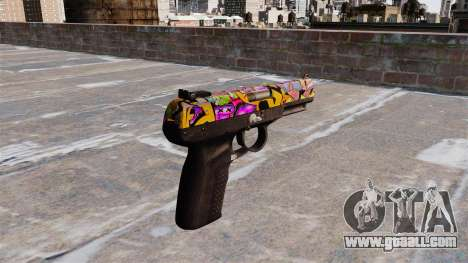 Gun FN Five seveN Graffitti for GTA 4 second screenshot