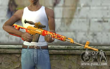 The Dragunov Sniper's Rifle (Point Blank) for GTA San Andreas third screenshot
