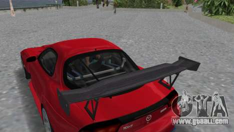 Mazda RX7 FD3S RE Amamiya Road Version for GTA Vice City back view