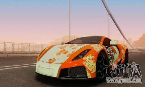GTA Spano 2014 IVF for GTA San Andreas engine