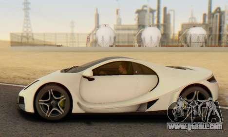 GTA Spano 2014 IVF for GTA San Andreas inner view