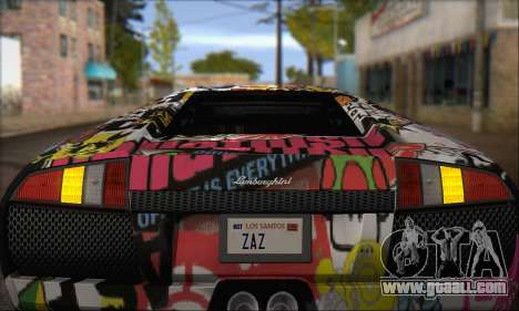 Lamborghini Murcielago 2005 Same Editions IVF for GTA San Andreas inner view