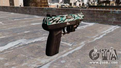 Gun FN Five seveN LAM Aqua Camo for GTA 4 second screenshot