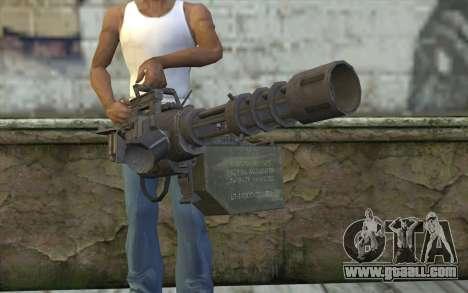 New Minigun for GTA San Andreas third screenshot