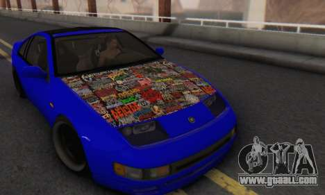 Nissan 300ZX Fairlady for GTA San Andreas back view